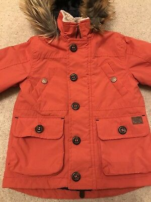 Beautiful Boys Monsoon Winter Coat, Orange, 18-24 Months, Fantastic Condition