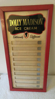 1951 Original Dolly Madison Ice Cream Menu Sign, Beautiful Near Mint Condition!