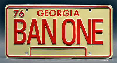 Smokey and the Bandit / 1977 Trans Am / BAN ONE *STAMPED* Prop License Plate