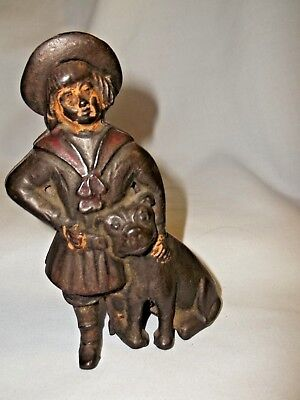 Antique AC Williams Buster Brown & Tige Dog Cast Iron Penny Bank