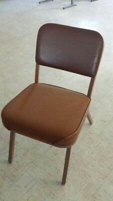 chairs, 5 padded brown chairs  sorry no shipping f-865-69