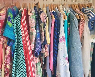 60s 70s Vintage Clothing Lot / 1960s 1970 Mystery Apparel Assortment Accessories