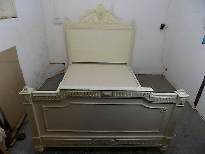 "antique,French,Louis,double,4'6"",bed,double bed,bedroom,bed frame,divan base"