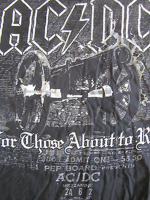 AC/DC Black Medium For Those About to Rock T-Shirt