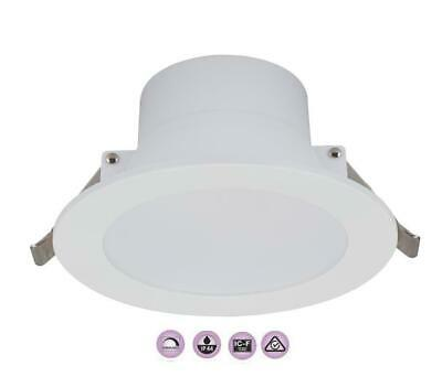 New 12W Ollietec Led Downlight Dimmable / Non Kit 90Mm Cutout Ip44 Warm/daylight
