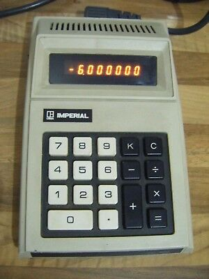 Imperial Litton IC 900 vintage electronic calculator made in Japan c1973-working