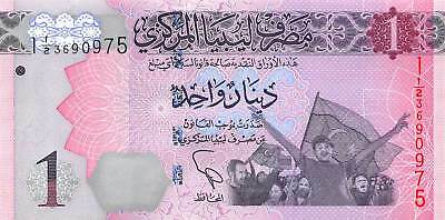 Libya 1 Dinar 2013 Post revolution First Issue P.76 New Uncirculated Unc