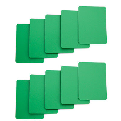 Set of 10 Green Plastic Poker Size Wide Cut Cards Fits Copag Kem Bicycle NEW