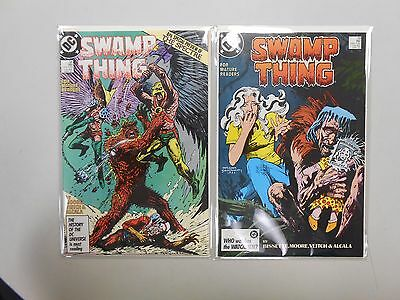 Swamp Thing #58 and 59! (1986, DC)! VF/NM9.0! Copper age DC comic lot of 2!