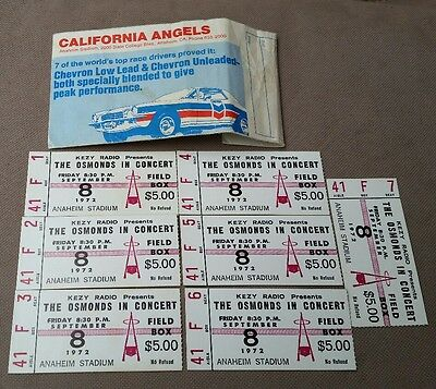 Original sept. 8th.1972The Osmonds Concert Ticket Stub  anaheim stadium.