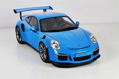 GT Spirit Porsche 911 (991) GT3 RS Riviera Blue Resin Model Car 1/18