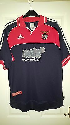 Mens Football Shirt - Benfica FC S.L.B. - Adidas - Away 2000-2001 - Dark Blue L