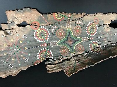 Old Australian Aboriginal Bark Painting (b) …beautiful collection / display...