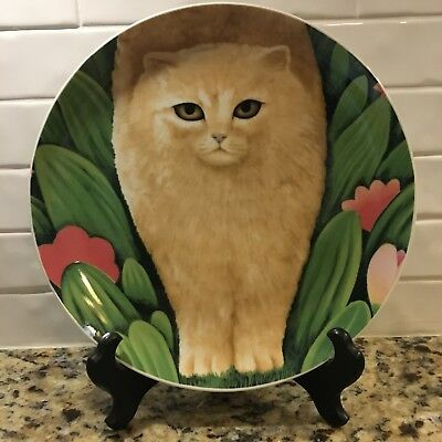 "Dept. 56 by Martin Leman ""Chloe"" Cat Collectible Plate Made in Japan 9 1/4"""