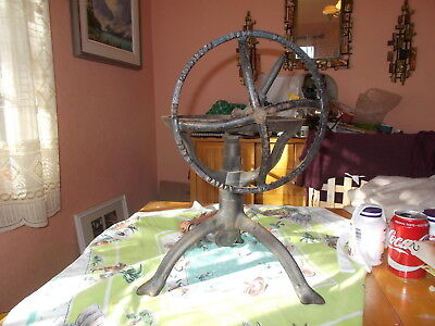Very Unusual Antique Pluiviette Turbine Cast Iron Lawn Sprinkler