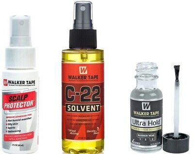 Walker-Tape Ultra Hold 0.5oz Adhesive/Glue + C22 4oz + Scalp Protector 2oz (SET)