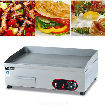 3KW Commercial Electric Griddle Flat Top BBQ Grill Kitchen Countertop Griller US