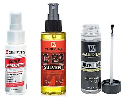 Walker-Tape Ultra Hold 1.4oz Adhesive/Glue + C22 4oz + Scalp Protector 2oz (SET)