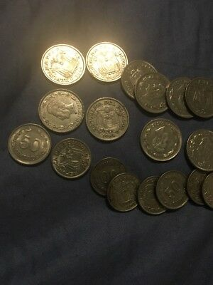 ECUADOR COINS LOT 50 Centavos And UN Sucre You Get All