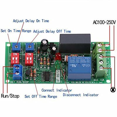 AC100V~250V Infinite Cycle Delay Wall Timer Timing Switch Relay Turn On Off M...