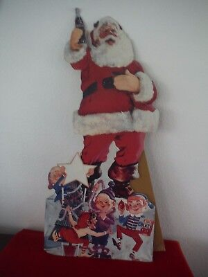 Two vintage 50's-60's Christmas Coca Cola Advertising Stand-Up Display