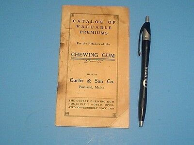 Vintage 1906 Curtis Chewing Gum Premiums Catalog For Retailers