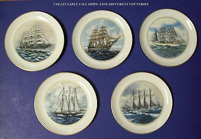 Danbury Mint Tall Ship Collectibles Plates Set Of Five