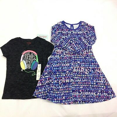 Lot of 2 Girls Top Dress Size 6X LL Bean Cat & Jack New