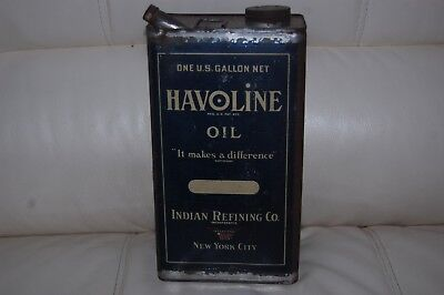 Vintage Texaco Havoline Oil Can Indian Refining Co New York City One Gallon