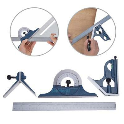 "Blem Cosmetic Second PEC 12"" 4pcs combination machinist square protractor Kit"