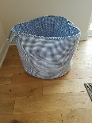 The Little White Company Storage Bin - Light Blue Gingham