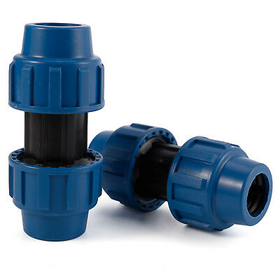 Pairs of Coupler Compression Fittings For Water Pipe 25mm 32mm New