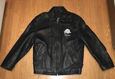 Planet Hollywood Indianapolis Black Leather Jacket. Men's size S. Nice! RARE!