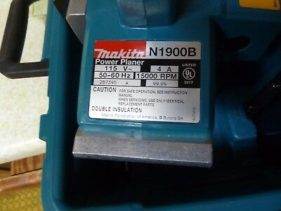 Makita N1900B Power Planer Excellent Condition  really almost mint but not quite
