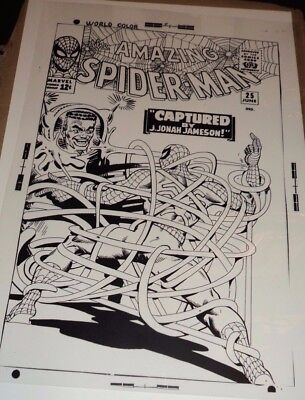 Amazing Spiderman Steve Ditko Spider Slayer Cover Production Art Acetate
