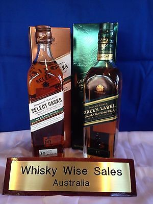 Johnnie Walker Green Label & Johnnie Walker Select Casks. Rye Cask Finish.