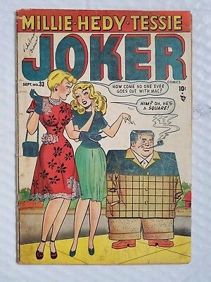Joker Comics #33 1948 rare comic early millie the model appearance good 2.0