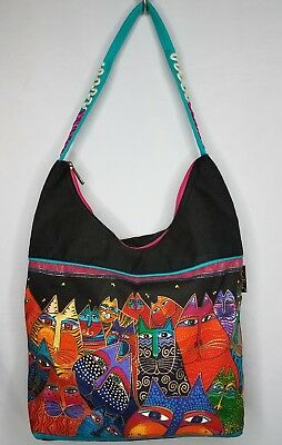 Laurel Burch Tote bag Hobo Purse Fantasticats Medium Scoop