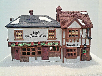 "DEPT. 56 DICKENS' VILLAGE  ""THE OLD CURIOSITY SHOP"" 5905-6 Retired 1987 w/box"