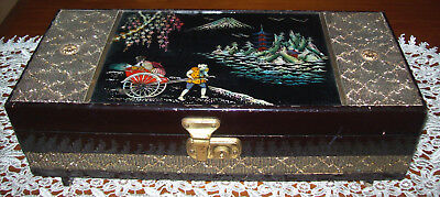 Beautiful Vintage Japanese Musical Jewellery Box with Ballerina  Deceased Estate