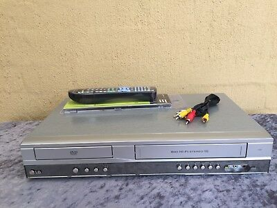 Serviced LG V181 Combo VCR DVD player + Video Recorder + Remote + RCA VHS