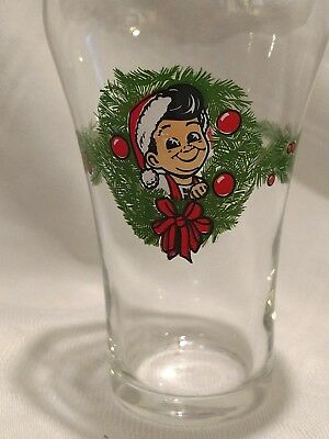 Rare  Big Boy Coca Cola Christmas Santa Season Greetings  Bell glass