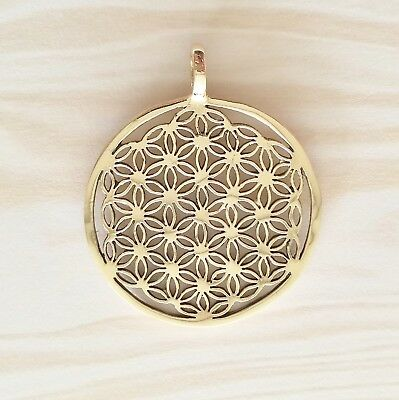 Gypsy Gold (Bronze) Flower of Life Pendant