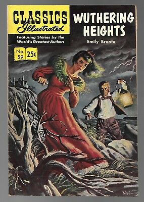 Classics Illustrated #59 Wuthering Heights (1969) HRN 169 Stiff Cover VG 4.0