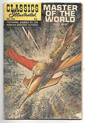 Classics Illustrated #163 Master of the World (1968) HRN 166 FAIR 1.0