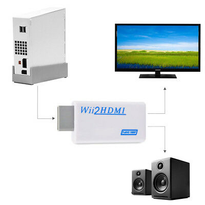 Wii To Hdmi Adapter Wii2Hdmi Output 1080P 720P Converter 3.5Mm Audio Full Hd New