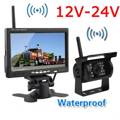 """Wireless Reversing Backup Rear View Camera System+7""""TFT LCD HD Monitor For Truck"""