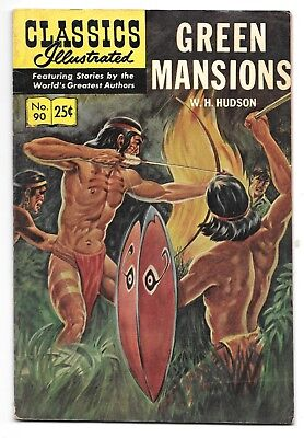 Classics Illustrated #90 Green Mansions (1969) HRN 169 Stiff Cover VG- 3.5