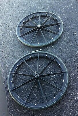 Invacare tracer sx5 wheelchair rear back wheels,tires handrim/push bars replace