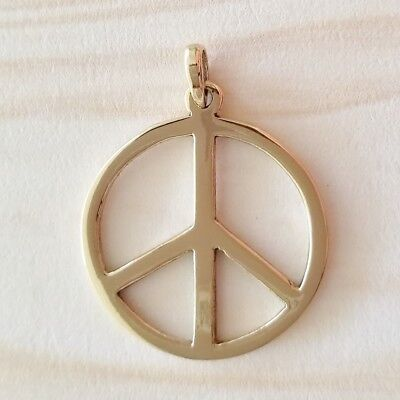 Gypsy Gold (Bronze) Peace Symbol Pendant